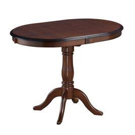 Стол обеденный деревянный овальный раздвижной SOLERNO Тобакко